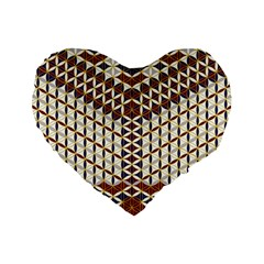 Flower Of Life Pattern Red Blue Standard 16  Premium Flano Heart Shape Cushions by Cveti