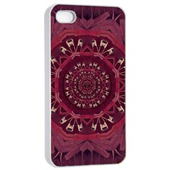 Leather And Love In A Safe Environment Apple Iphone 4/4s Seamless Case (white) by pepitasart