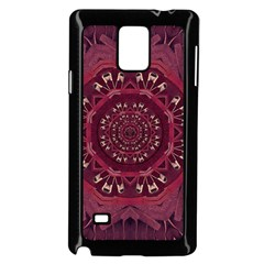 Leather And Love In A Safe Environment Samsung Galaxy Note 4 Case (black) by pepitasart