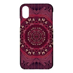 Leather And Love In A Safe Environment Apple Iphone X Hardshell Case by pepitasart