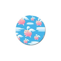 Flying Piggys Pattern Golf Ball Marker by allthingseveryday