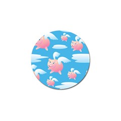 Flying Piggys Pattern Golf Ball Marker (10 Pack) by allthingseveryday
