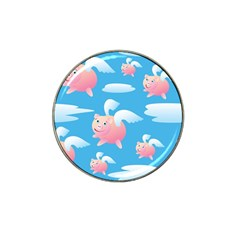 Flying Piggys Pattern Hat Clip Ball Marker (4 Pack) by allthingseveryday