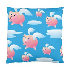 Flying Piggys Pattern Standard Cushion Case (two Sides) by allthingseveryday