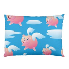 Flying Piggys Pattern Pillow Case by allthingseveryday