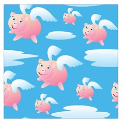 Flying Piggys Pattern Large Satin Scarf (square) by allthingseveryday