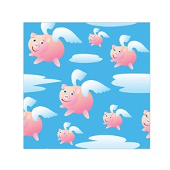 Flying Piggys Pattern Small Satin Scarf (square) by allthingseveryday