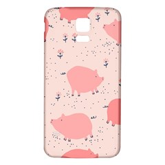 Pigs And Flowers Samsung Galaxy S5 Back Case (white) by allthingseveryday