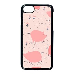 Pigs And Flowers Apple Iphone 7 Seamless Case (black) by allthingseveryday