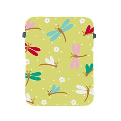Colorful Dragonflies And White Flowers Pattern Apple Ipad 2/3/4 Protective Soft Cases by allthingseveryday