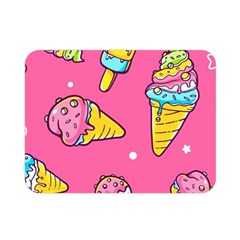 Summer Ice Creams Flavors Pattern Double Sided Flano Blanket (mini)  by allthingseveryday
