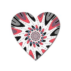High Contrast Twirl Heart Magnet by linceazul