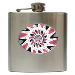 High Contrast Twirl Hip Flask (6 Oz) by linceazul