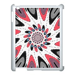 High Contrast Twirl Apple Ipad 3/4 Case (white) by linceazul