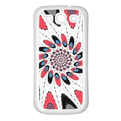 High Contrast Twirl Samsung Galaxy S3 Back Case (white) by linceazul