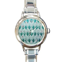 Teal Art Nouvea Round Italian Charm Watch by 8fugoso