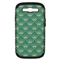 Green Fan  Samsung Galaxy S Iii Hardshell Case (pc+silicone) by 8fugoso