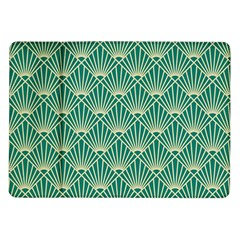 Green Fan  Samsung Galaxy Tab 10 1  P7500 Flip Case by 8fugoso