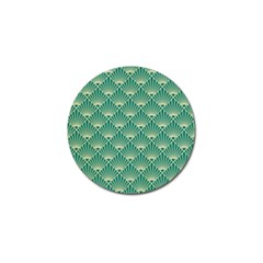 Green Fan  Golf Ball Marker by 8fugoso