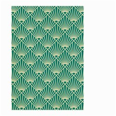 Green Fan  Small Garden Flag (two Sides) by 8fugoso