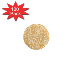 Yellow Peonines 1  Mini Magnets (100 Pack)