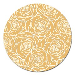 Yellow Peonines Magnet 5  (round) by 8fugoso