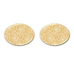 Yellow Peonines Cufflinks (oval) by 8fugoso