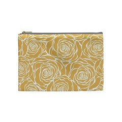 Yellow Peonines Cosmetic Bag (medium)  by 8fugoso