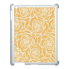 Yellow Peonines Apple Ipad 3/4 Case (white) by 8fugoso