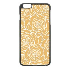 Yellow Peonines Apple Iphone 6 Plus/6s Plus Black Enamel Case by 8fugoso