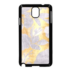 Gold Silver Samsung Galaxy Note 3 Neo Hardshell Case (black) by 8fugoso