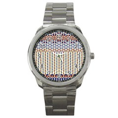 Flower Of Life Pattern 2 Sport Metal Watch by Cveti