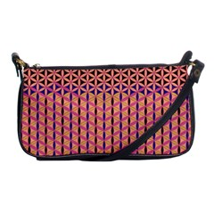 Flower Of Life Pattern 3 Shoulder Clutch Bags by Cveti