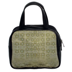 Shooting Stars Over The Sea Of Calm Classic Handbags (2 Sides) by pepitasart