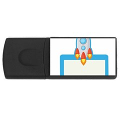 Rocket Spaceship Clip Art Clipart Rectangular Usb Flash Drive by Celenk