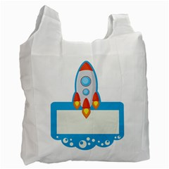Rocket Spaceship Clip Art Clipart Recycle Bag (one Side) by Celenk