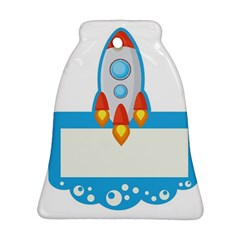 Rocket Spaceship Clip Art Clipart Ornament (bell) by Celenk
