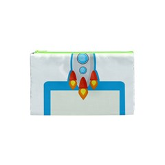 Rocket Spaceship Clip Art Clipart Cosmetic Bag (xs)