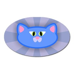 Advertise Animal Boarding Cat Oval Magnet by Celenk