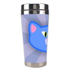 Advertise Animal Boarding Cat Stainless Steel Travel Tumblers by Celenk