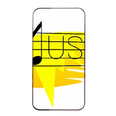 Music Dance Abstract Clip Art Apple Iphone 4/4s Seamless Case (black)