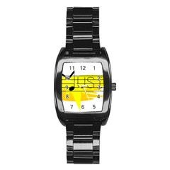 Music Dance Abstract Clip Art Stainless Steel Barrel Watch by Celenk