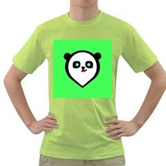 Panda Bear Green T Shirt