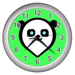 Panda Bear Wall Clocks (silver)