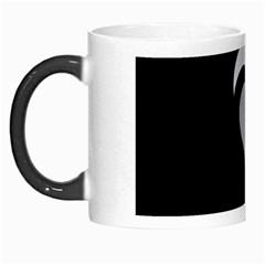 Heart Love Black And White Symbol Morph Mugs by Celenk