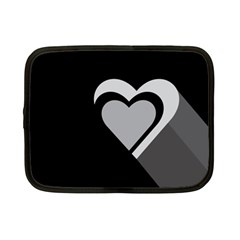 Heart Love Black And White Symbol Netbook Case (small)  by Celenk