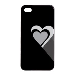 Heart Love Black And White Symbol Apple Iphone 4/4s Seamless Case (black) by Celenk