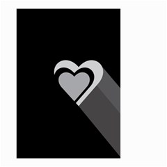 Heart Love Black And White Symbol Small Garden Flag (two Sides) by Celenk