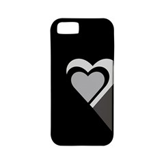Heart Love Black And White Symbol Apple Iphone 5 Classic Hardshell Case (pc+silicone) by Celenk