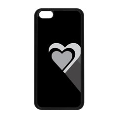Heart Love Black And White Symbol Apple Iphone 5c Seamless Case (black) by Celenk